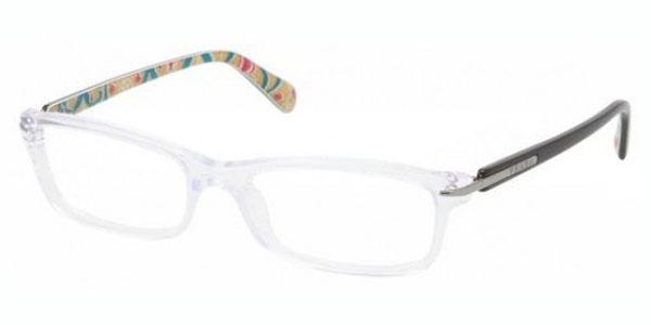 PRADA Eyeglasses PR 14NV 2AZ1O1 Crystal 52MM