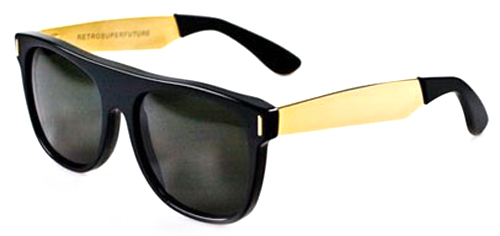 Image for Super  Flat Top Black/Yellow Gold 180 Sunglasses