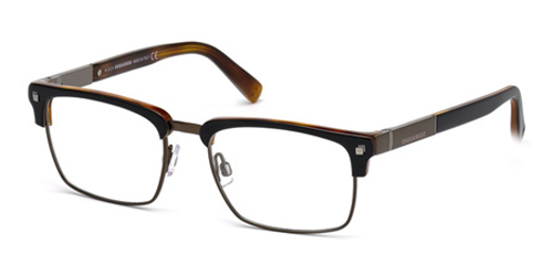 dsquared semi square eyeglasses temple 140 dq5158