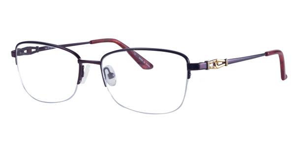 Bulova Twist Titanium Semi-Cat-Eye Eyeglasses - Bella ...